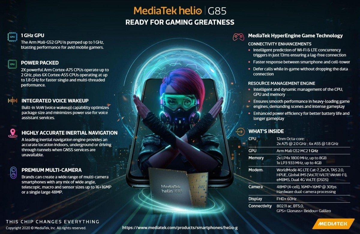 Представлена однокристальная система MediaTek Helio G85