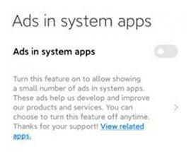В MIUI 12 будет проще отключить рекламные объявления