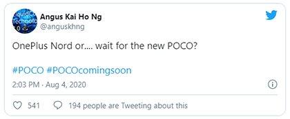 Новый смартфон Poco будет лучше, чем OnePlus Nord