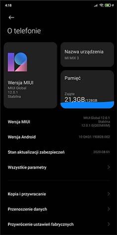 Владельцы Xiaomi Mi Mix 3 получают глобальную MIUI 12