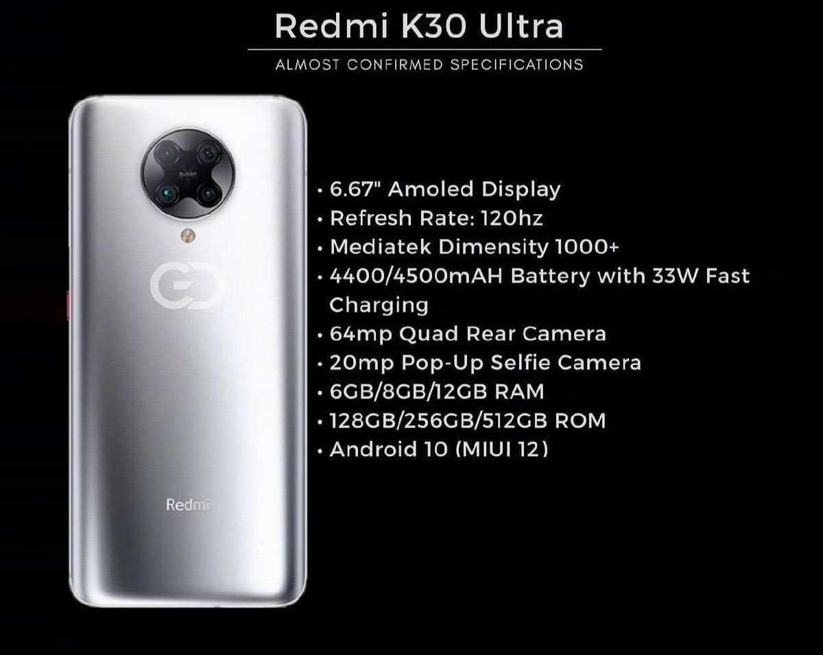 Ещё не представленный Redmi K30 Ultra показали на видео