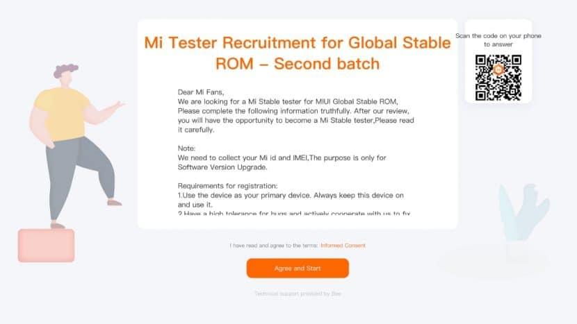 запись на бета-тест глобальной версииMIUI Global Stable ROM