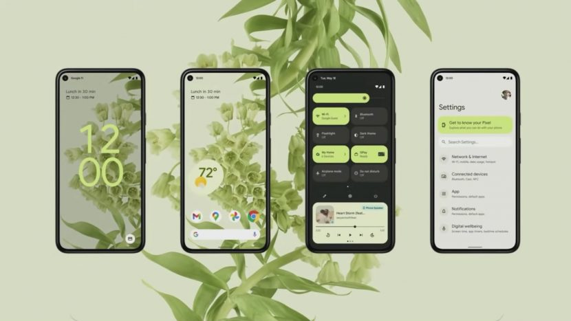 скриншоты Android 12 S